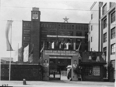 Eingangsbereich OSW; Foto, 1950