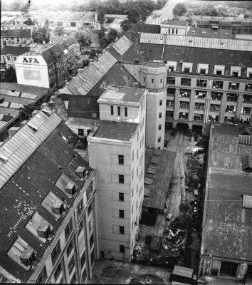 Blick vom Turm des Behrensbaus, Bild 2; Foto, 1952