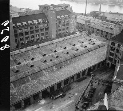 Blick vom Turm des Behrensbaus, Bild 4; Foto, 1952