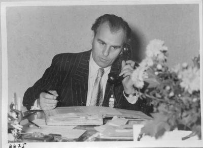 Werkleiter Rudi Müller; Foto, 1952