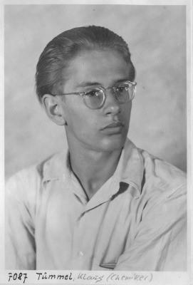 Portrait Klaus Tümmel; Foto, 1952