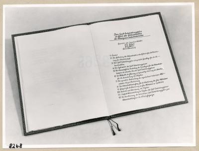 Album Geburtstag Walter Ulbricht, 2. Seite; Foto, 1953