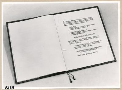 Album Geburtstag Walter Ulbricht, 3. Seite; Foto, 1953