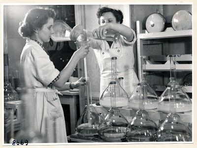 Setteln der Bildröhre, Foto 1953