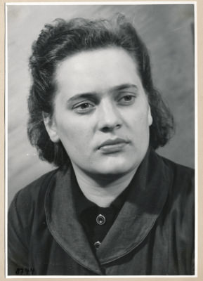 Frau Bumberski, Portrait; Foto, 1953