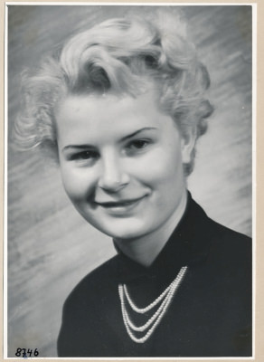 Junge Frau, Portrait; Foto, 1953