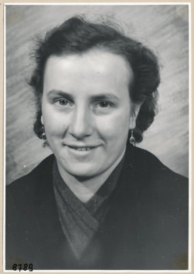 Frau Jensch, Portrait; Foto, 1953