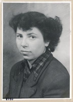 Frau Letz, Portrait; Foto, 1953