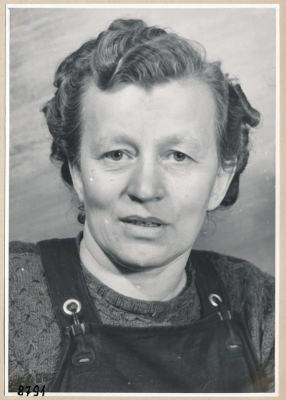 Frau Scholz, Portrait; Foto, 1953