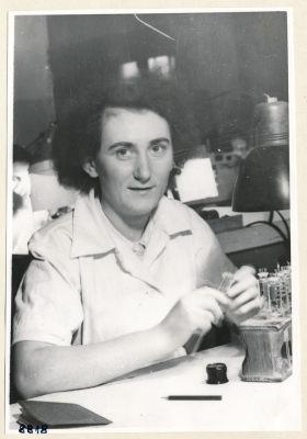 Frau Petzig, Portrait; Foto, 1953