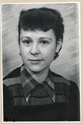 Frau De[??]rsch aus der Kathode, Portrait; Foto, 1953