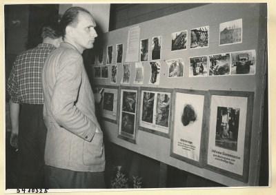Arbeitsschutzausstellung im HF-Speisesaal 9, Foto 1954