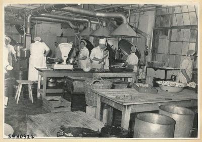 Großküche, Kantine HF-Werk, Foto 1954