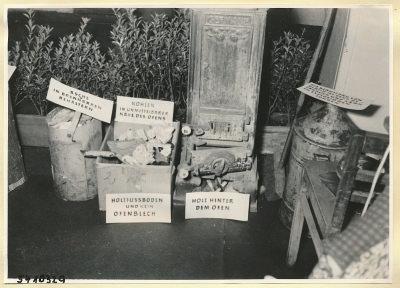 Arbeitsschutzausstellung im HF-Speisesaal 11, Foto 1954