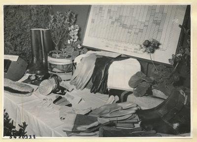 Arbeitsschutzausstellung im HF-Speisesaal 15, Foto 1954