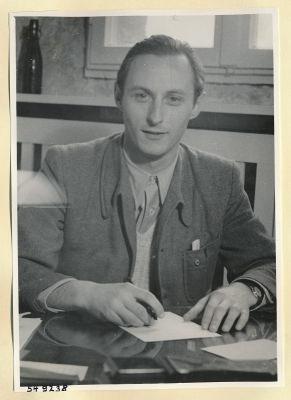 Günter Jacobsohn, Halbportrait, Foto 1954