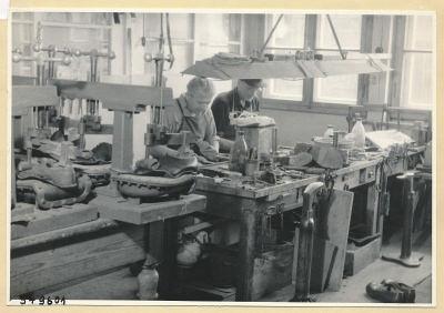 Schumacherei im WF, Foto 1954