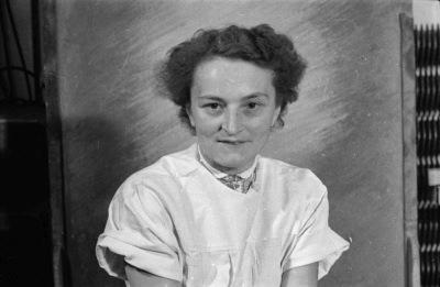 Passfoto Frau Thurley, Foto 1955