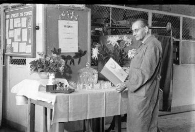 Kollege Franke, 65. Geburtstag, Foto 1955