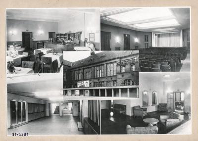 Repro Foto-Montage Kulturhaus; Foto, 1957