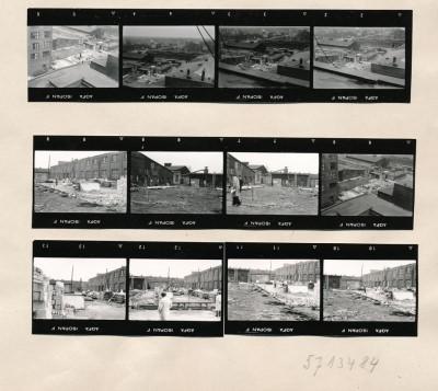 Kontaktabzug Neubau, Werkstattgebäude; Foto, 1956