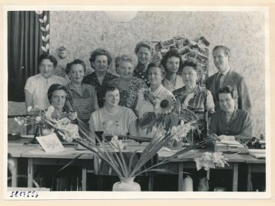 Verabschiedung Kollegin (Gehaltsbüro), Bild 1, Foto.1958