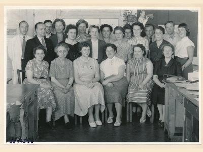 Verabschiedung Kollegin (Gehaltsbüro), Bild 2, Foto 1958