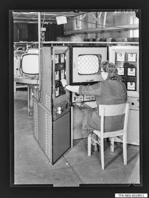 Bildröhrenwerk, Prüfstand, Foto 1960
