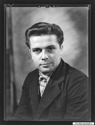 Portraitfoto, Mitglied Brigade Hartmetall (Werkzeugbau), Foto 1960