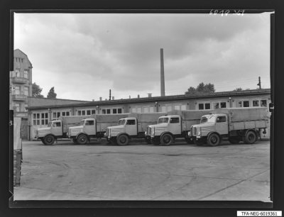 LKW-Fuhrpark des WF, Foto 1960