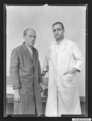 Kollegen Hartwig und Hoppe, Foto 1960