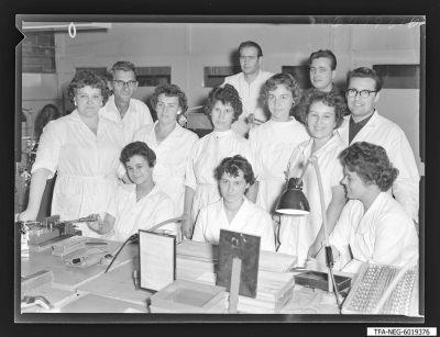 Brigade Gitterwickelei, 12 Mitglieder, Foto 1960