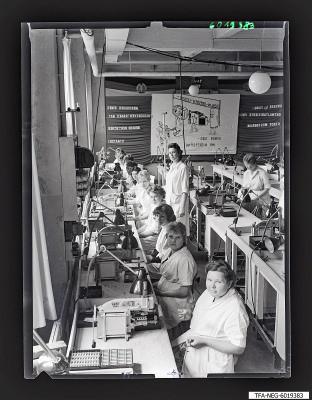 Röhrenaufbau, Brigade Meins, Foto 1960