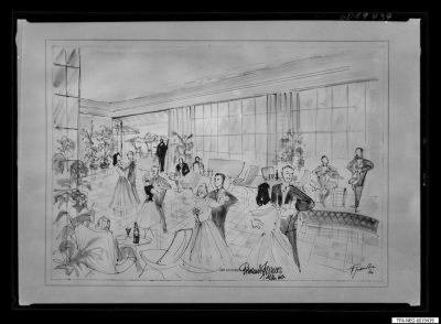 Tanz im Kulturhaus, Zeichnung, Reprofoto, 1960