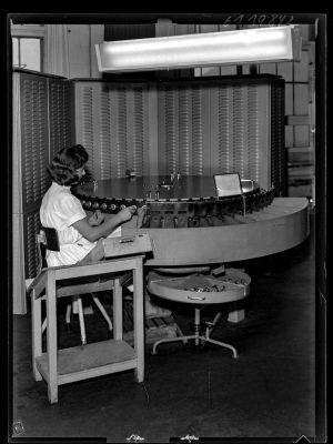 Röhrenprüfautomat, Foto 1961
