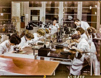 Brigade 8. März am Arbeitsplatz, Foto 1961