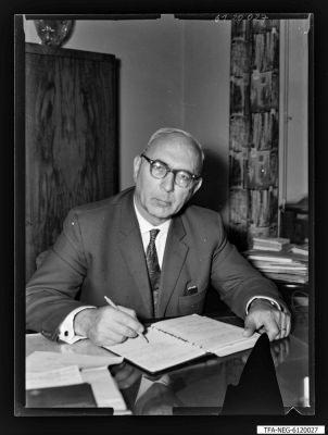Portrait Dr. Kurt Richter, Foto 1961