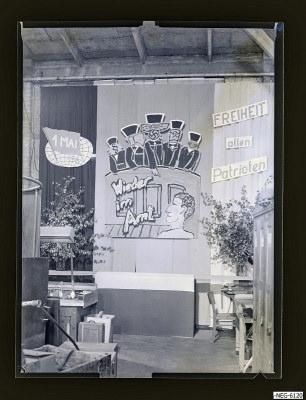 Ausschmückung 1. Mai, Foto 1961