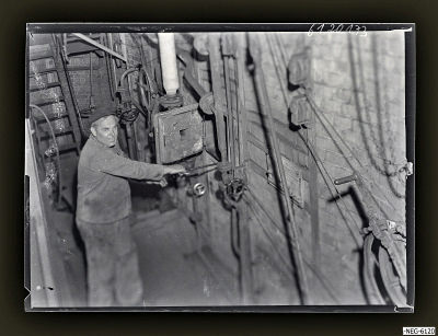 Arbeiter im Kesselhaus 1, Foto 1961