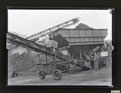Kohlentransport am Kesselhaus 2, Foto 1961