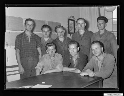 Brigade Ternick, 8 Männer, Foto 1961