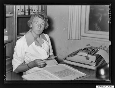 Kollegin Hildegard Köhn, Foto 1961