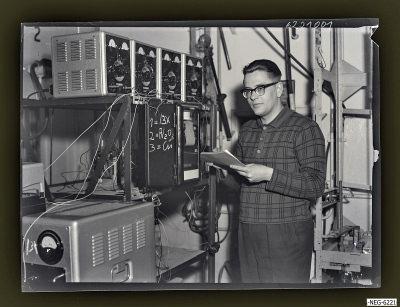 Klaus Tümmel, Leiter Getterlabor, Foto 1962