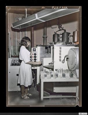 Ultraschall-Waschanlage, Foto 1962