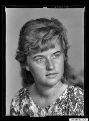 Kollg. Renate Förster; Foto 1963