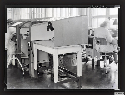 Überdruckhaube M, Foto 1963