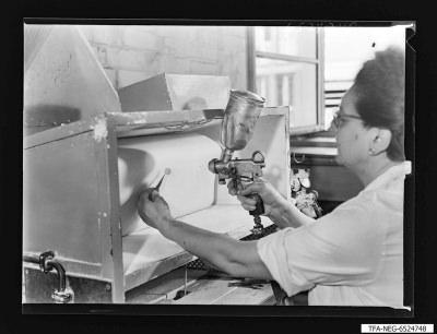 Glimmerspritzerei alt, Foto 1965