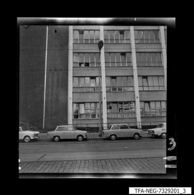 Hausansicht WF-Gebäude, Bild 3, Foto 1973