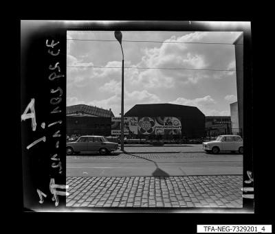 Straßenansicht des WF-Geländes, Foto 1973