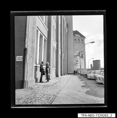 Haupteingang WF, Foto 1973